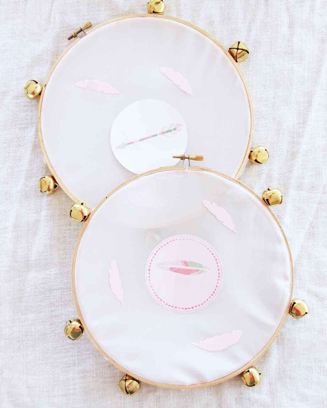 embroidery hoop tambourine