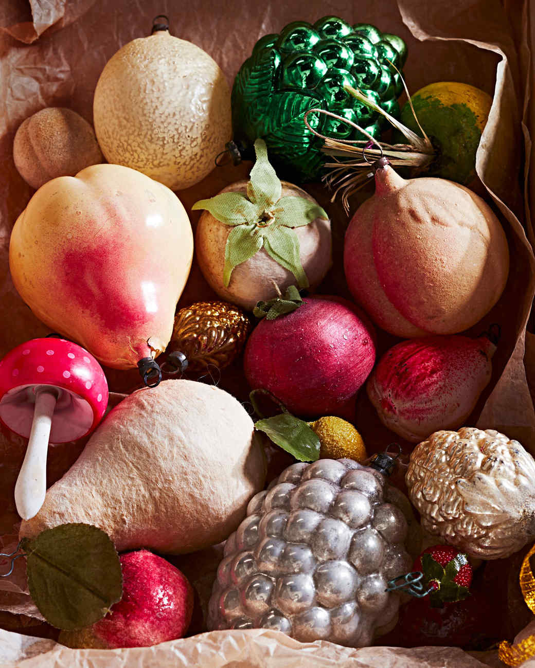 fresh fruit ornaments