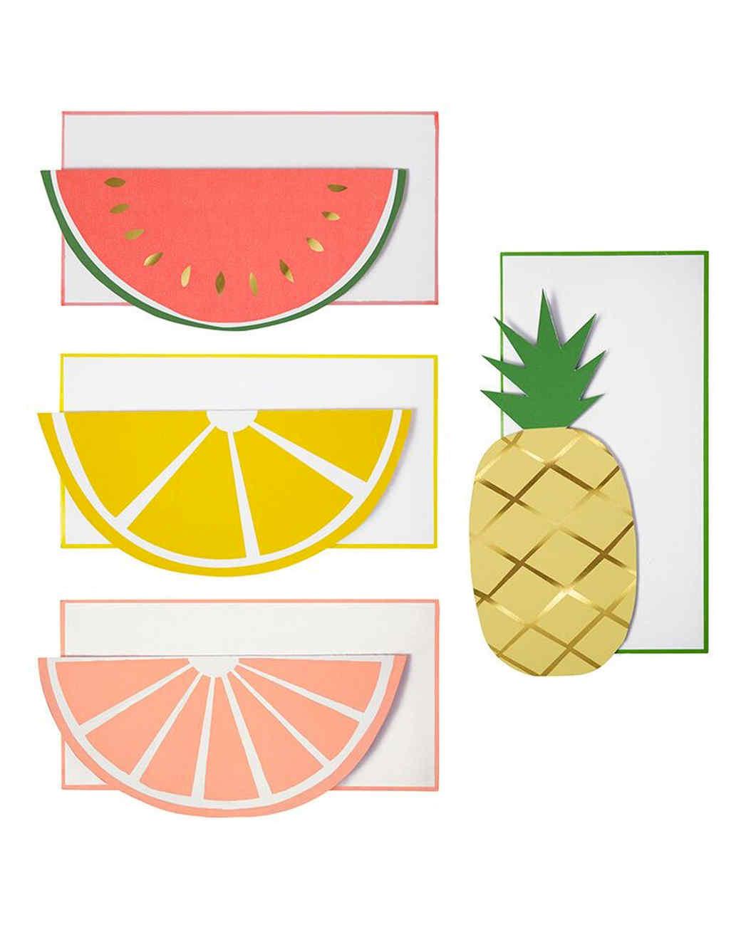 fruity notecards