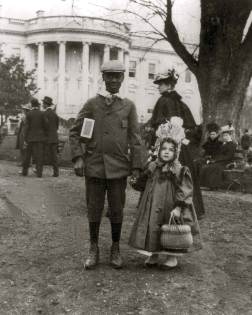 man and child at white house easter egg hunt