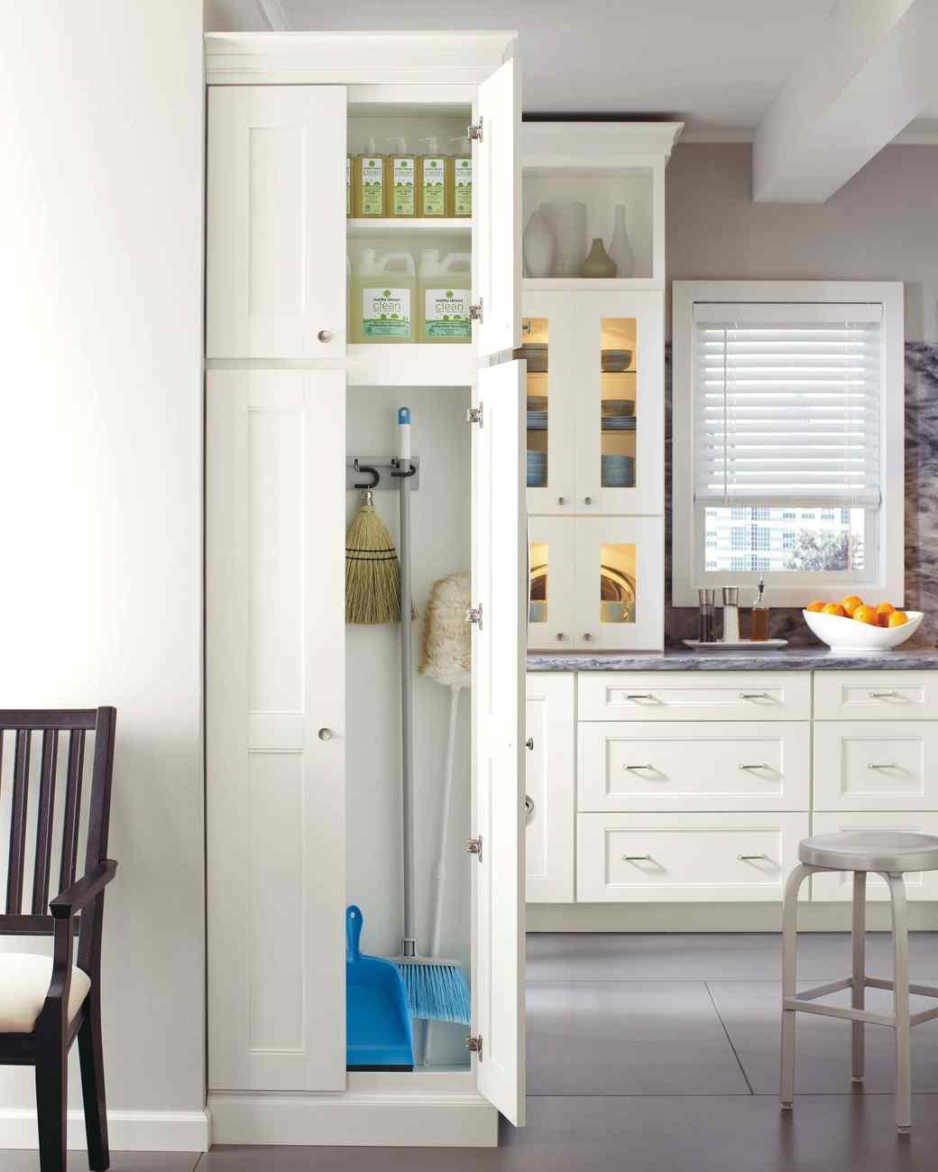 Broom Closet Cabinet Plans: Behind The Door: 17 Hidden Ways To Organize Your Kitchen