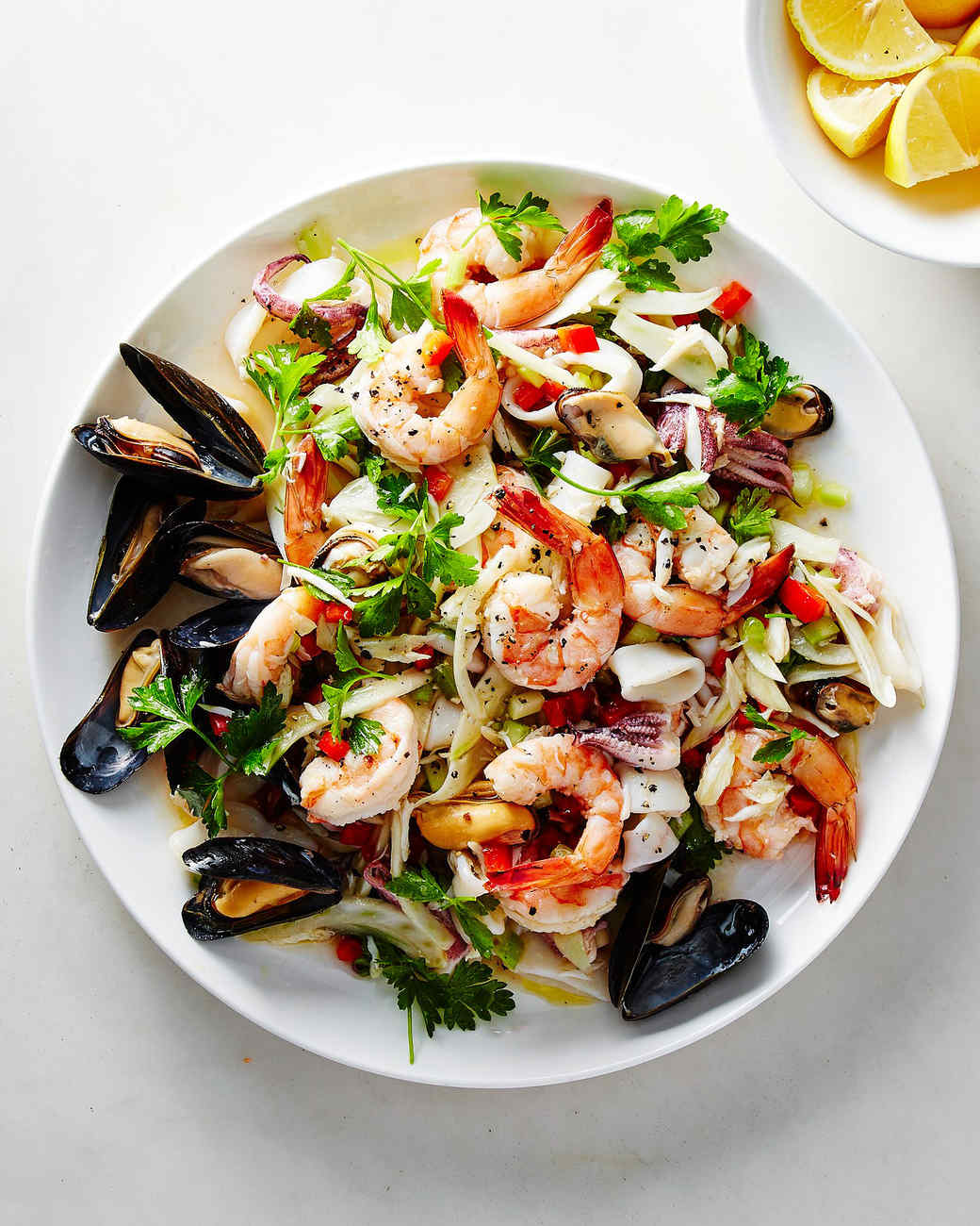 Salads with squids. Delicious recipes for festive salads 12