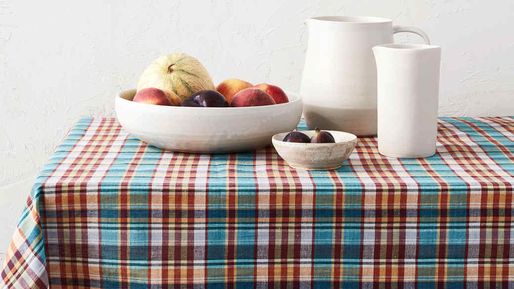 madras tablecloth