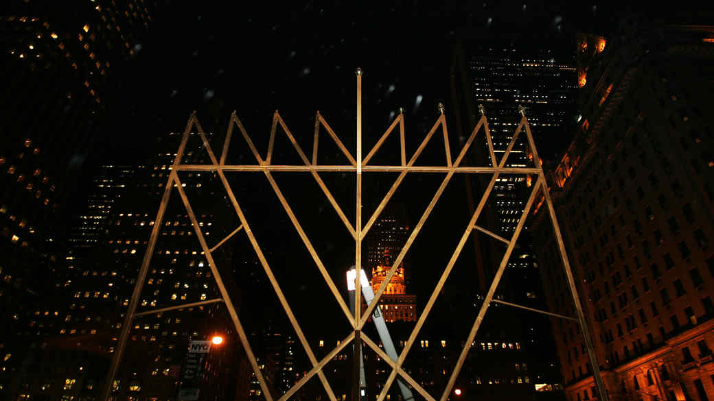 menorah in midtown Manhattan, New York City