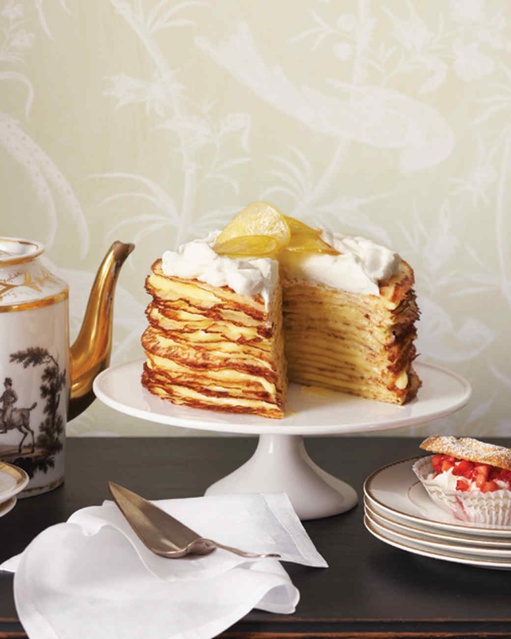 Meyer Lemon Crepe Cake Recipe & Video | Martha Stewart
