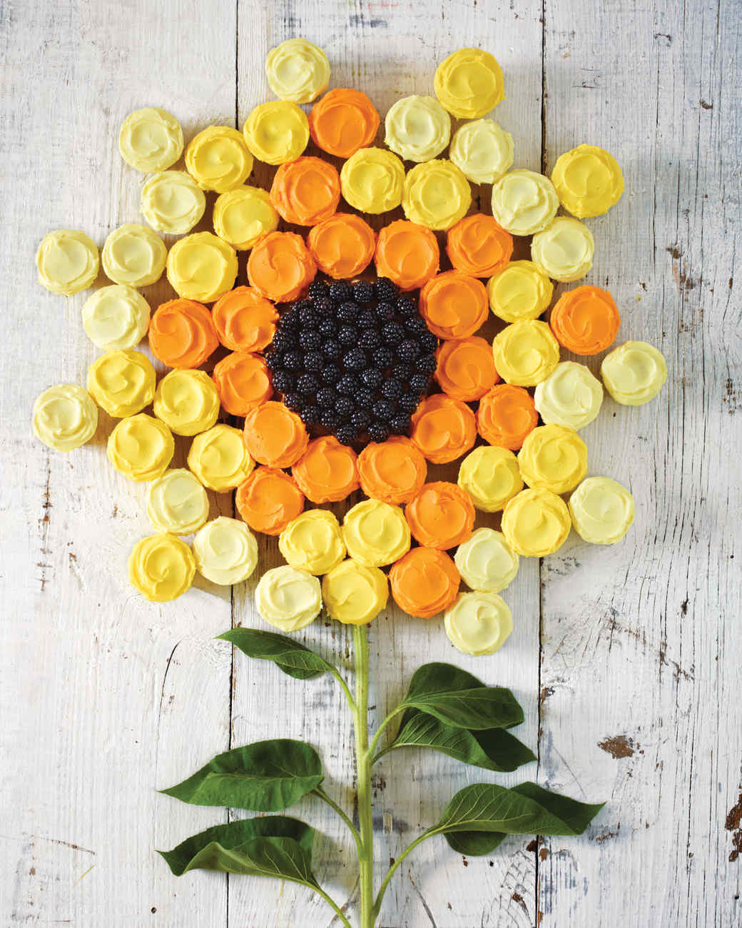 Sunflower Cupcake Cake