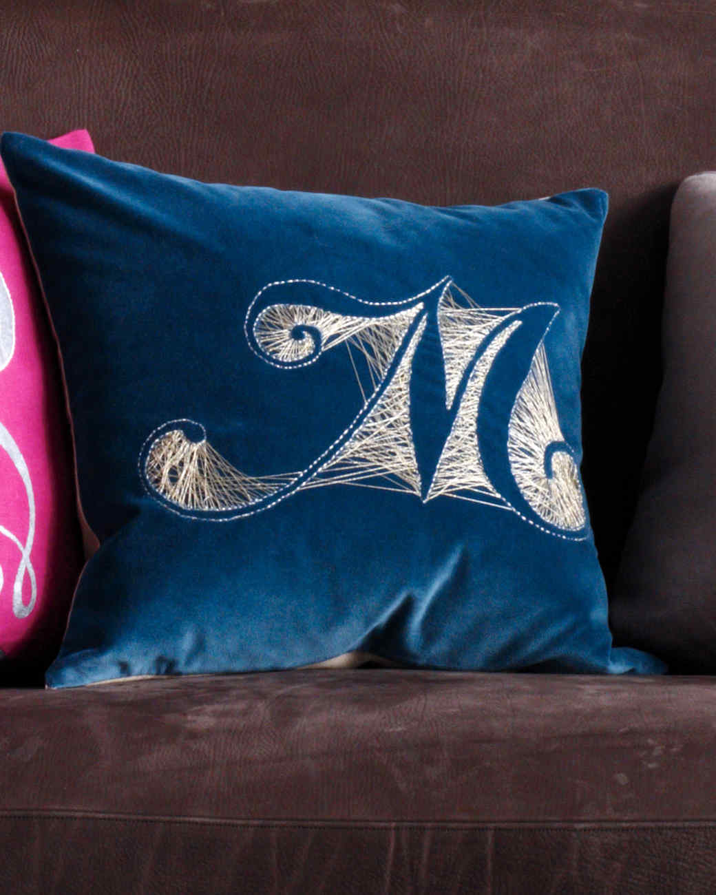 Monogram Velvet Pillow