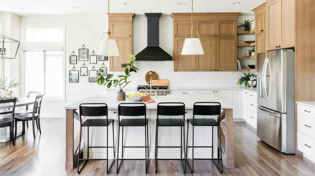 oak point kitchen elegant vaulted season
