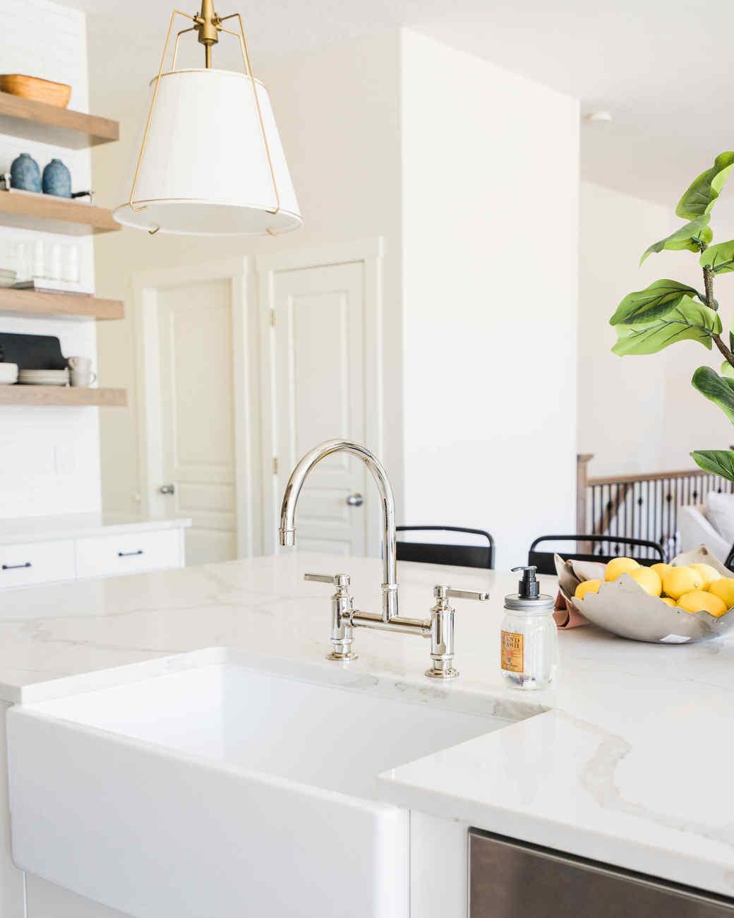 oak point kitchen white sink