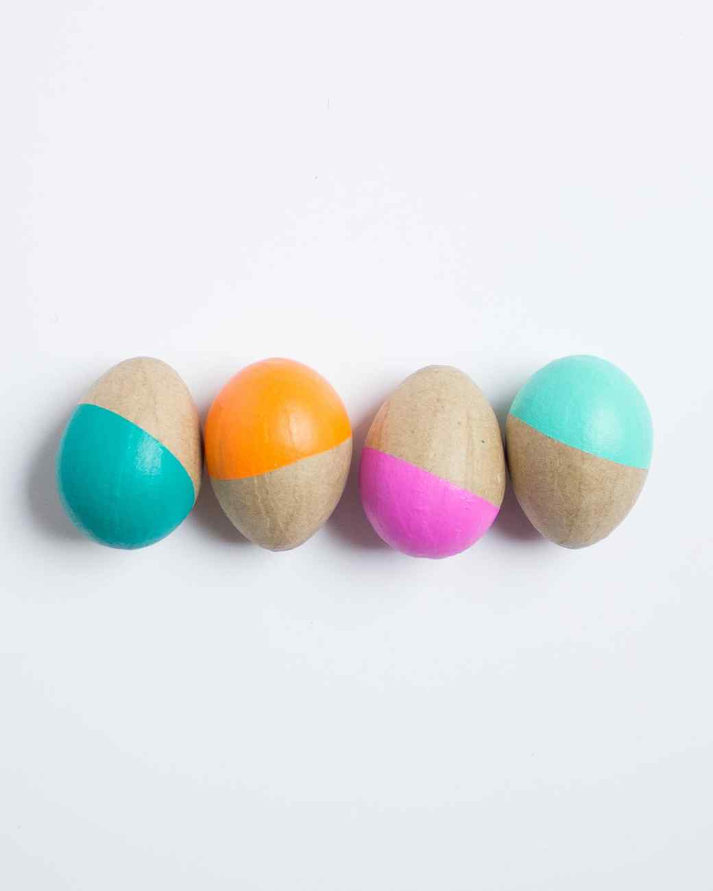 Paint Dipped Easter Eggs