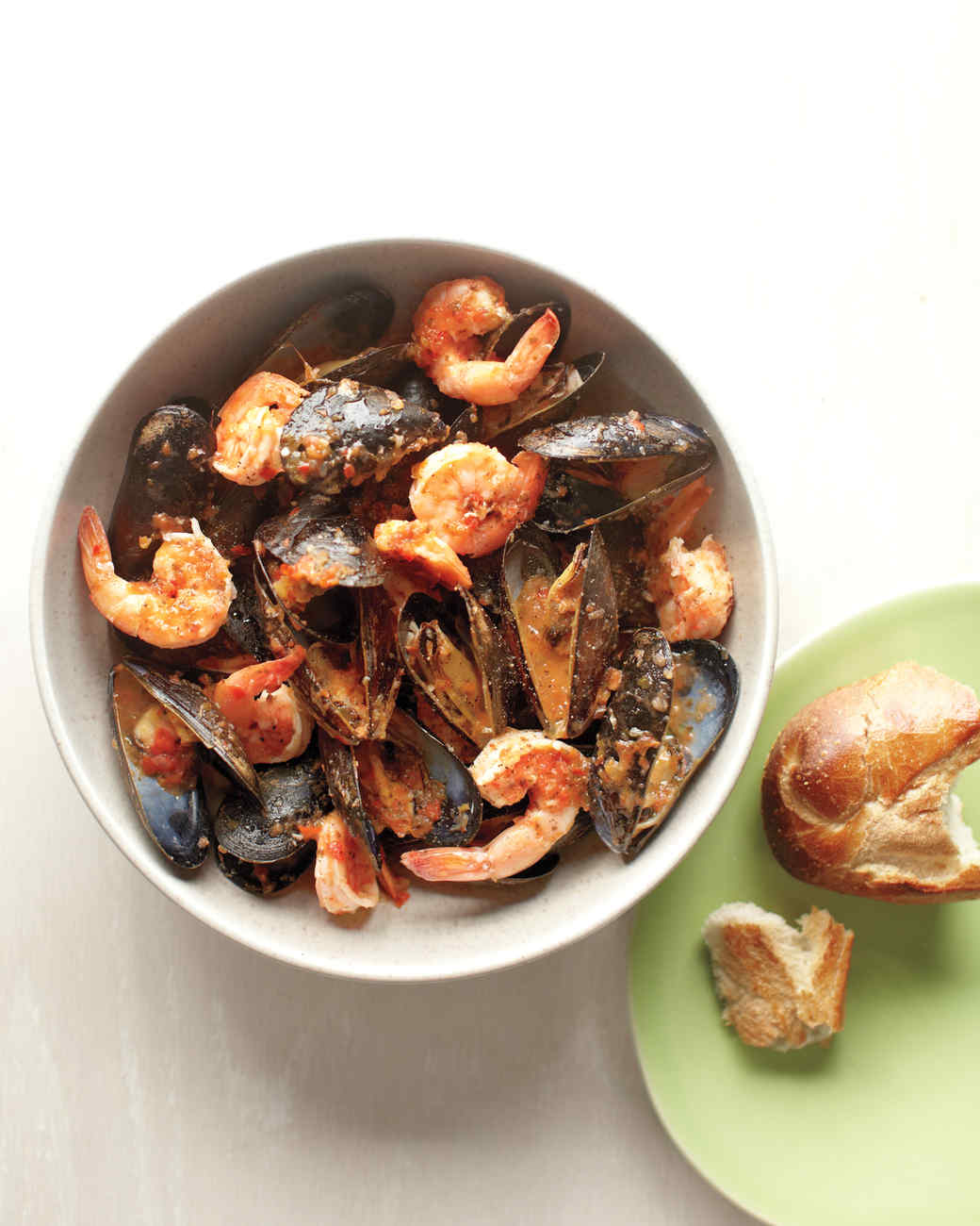 Shrimp and Mussels with Sofrito
