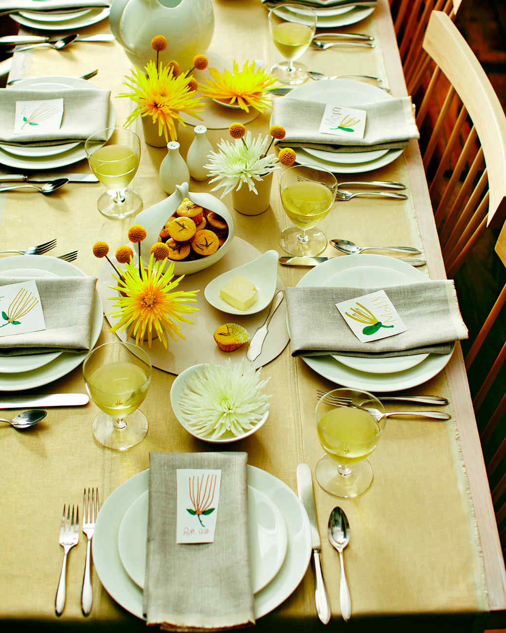 A Yellow Thanksgiving Table
