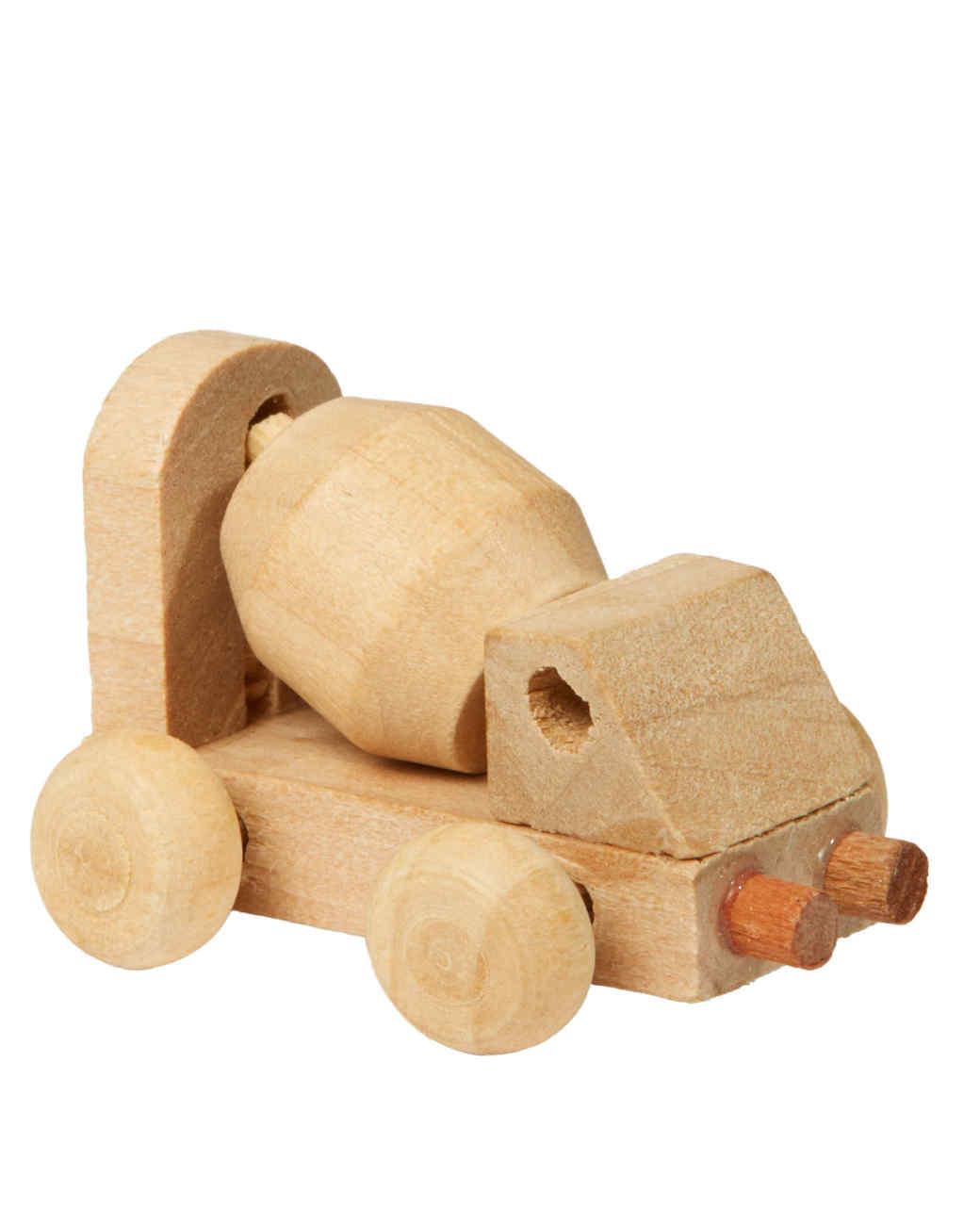 wooden dump truck toy