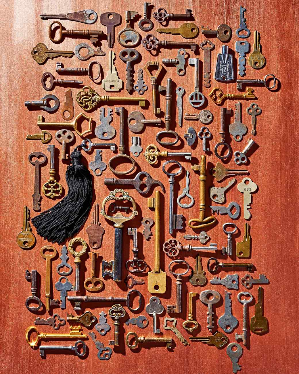 antique key collection
