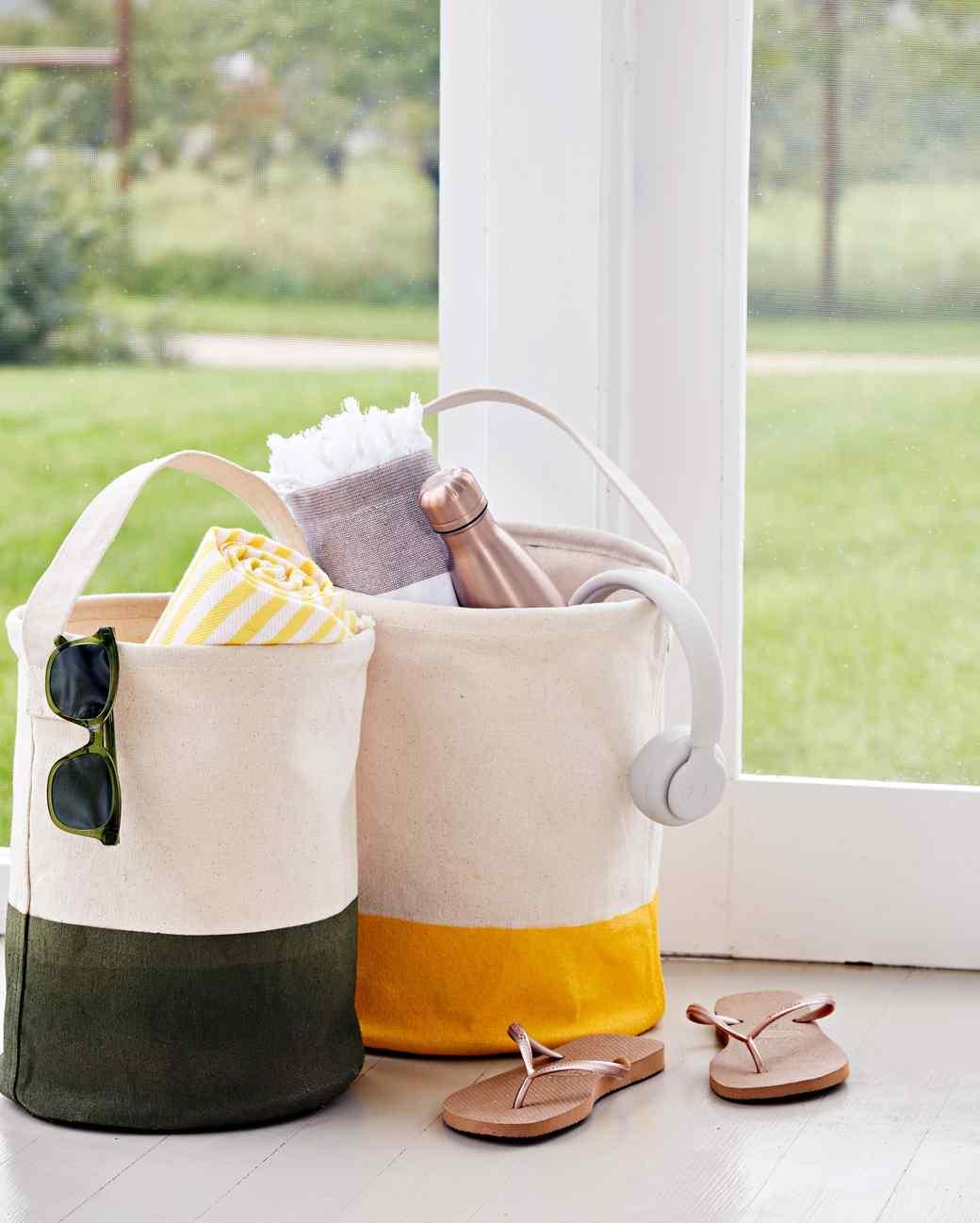 canvas bucket bags