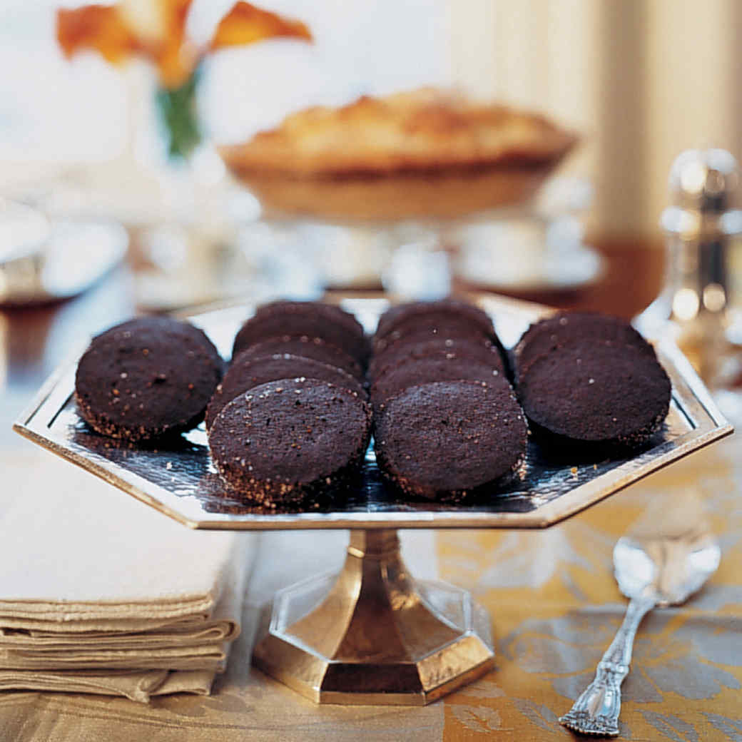 Chocolate Black Pepper Icebox Cookies
