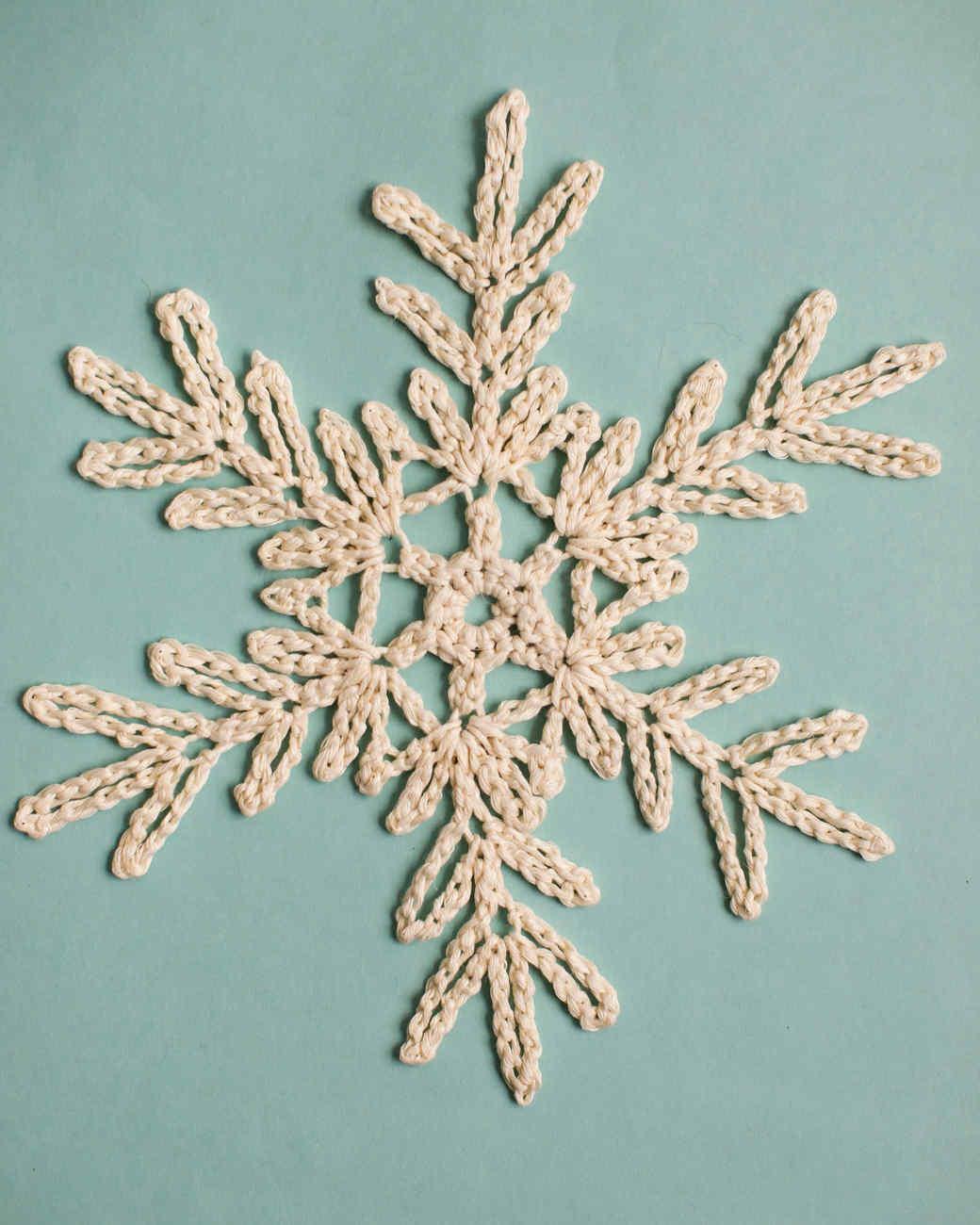 tree branch-like crochet snowflake pattern 4