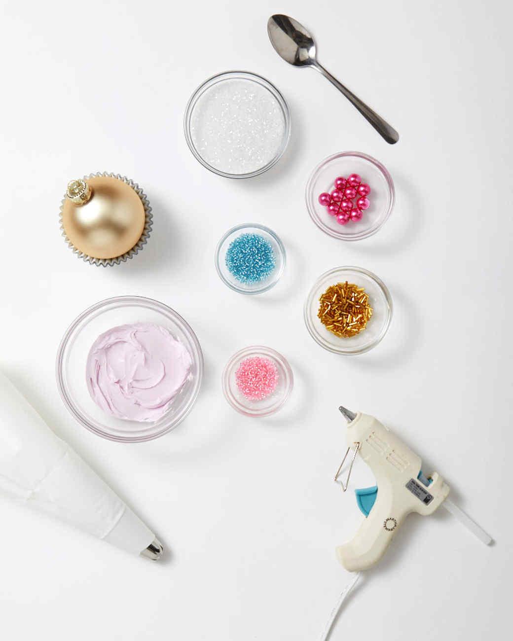 cupcake ornaments materials