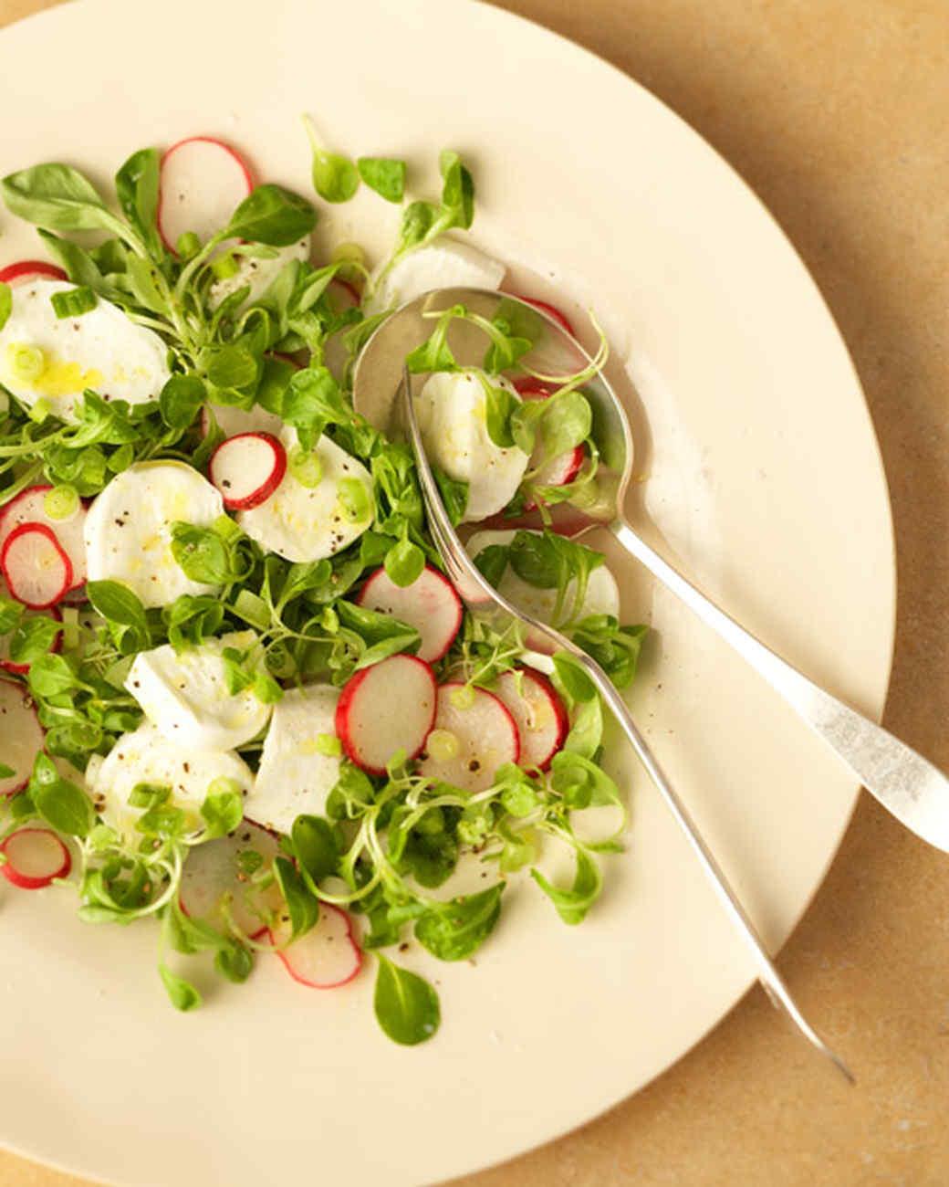 Spring Salad with Fresh Mozzarella