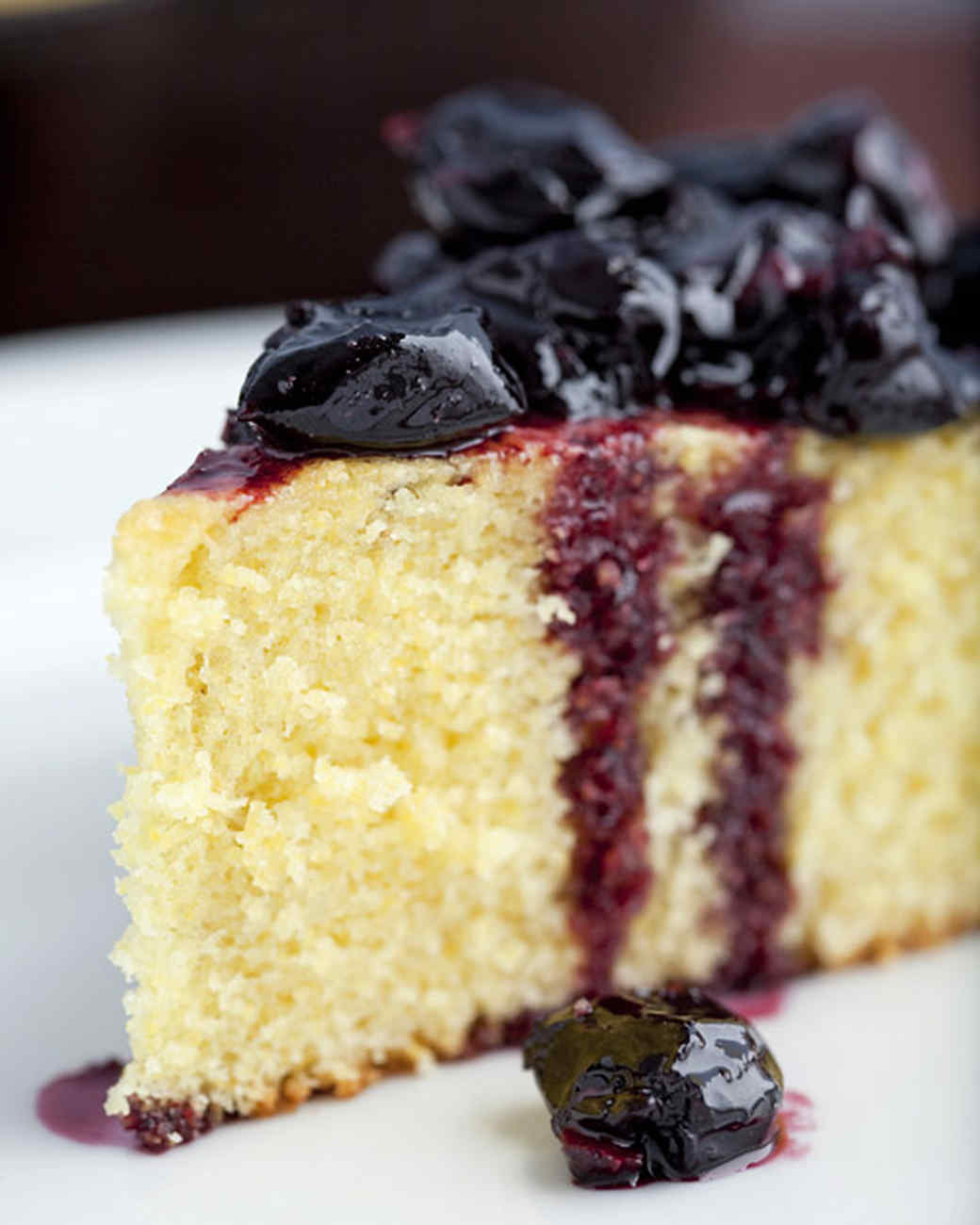 Skillet Corn Cake with Stewed Cherries