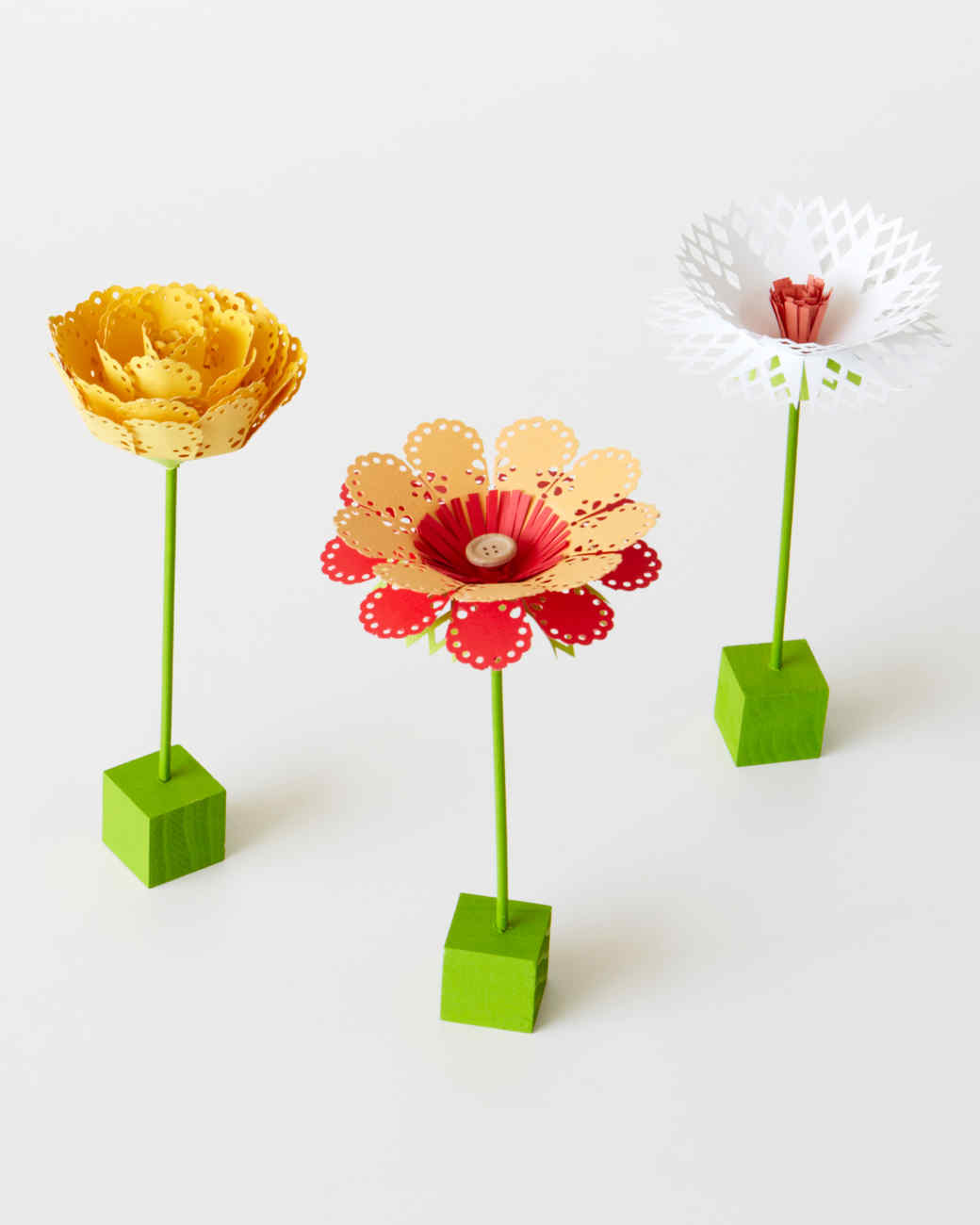Punched paper flowers martha stewart mightylinksfo