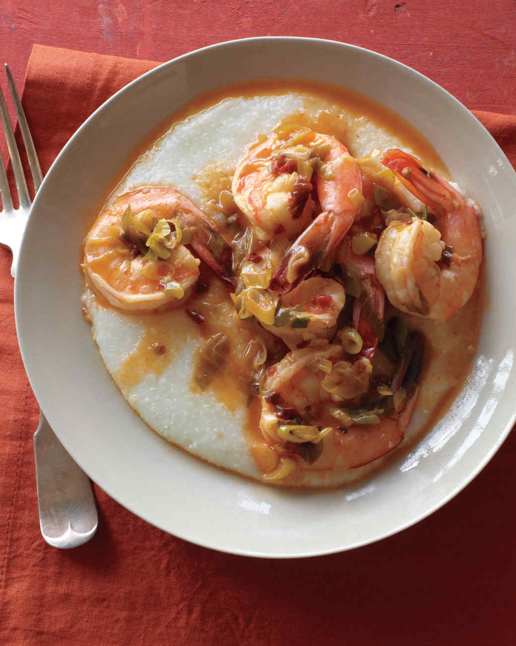 Chipotle Shrimp with Cheddar Grits