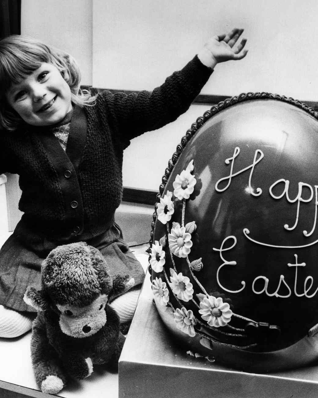 Janette and a giant easter egg