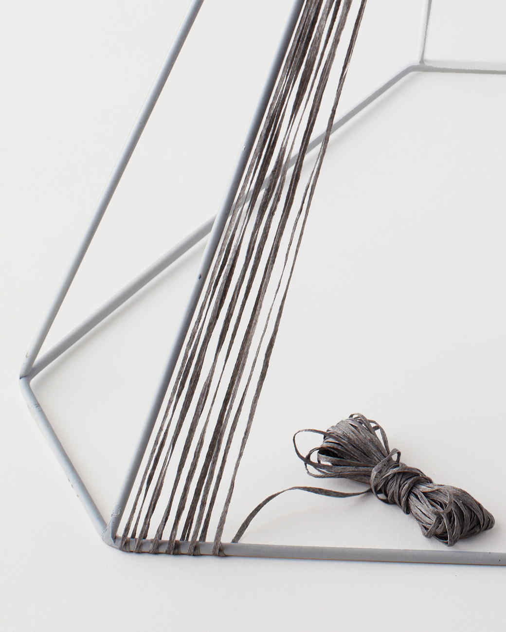 Yarn wrapped lampshade martha stewart introduction aloadofball Gallery