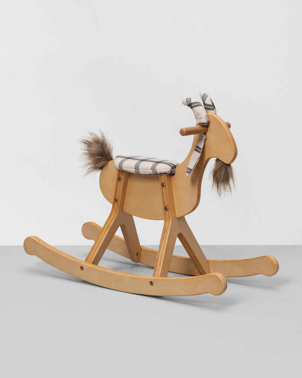 wooden goat rocking chair