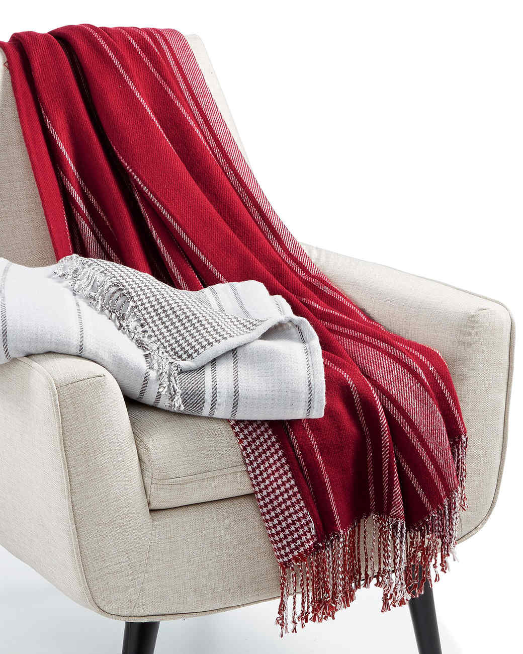 macys merch oversized red throw blanket and white throw blanket