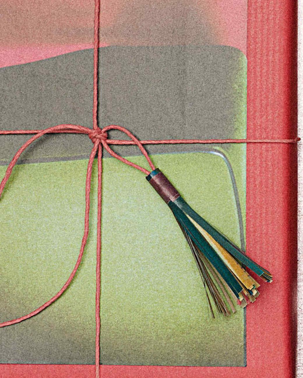 magazine paper tassels