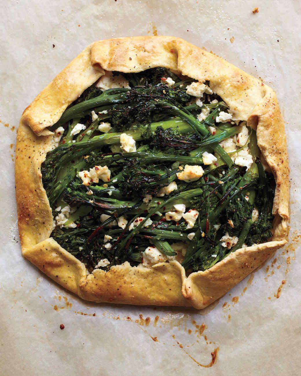 Broccolini and Feta Galette