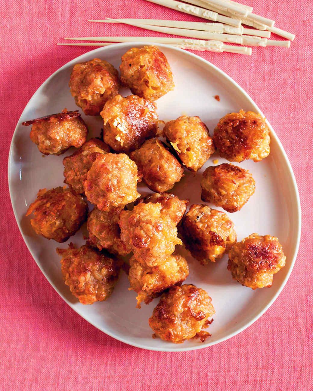 Sausage-Cheddar Balls