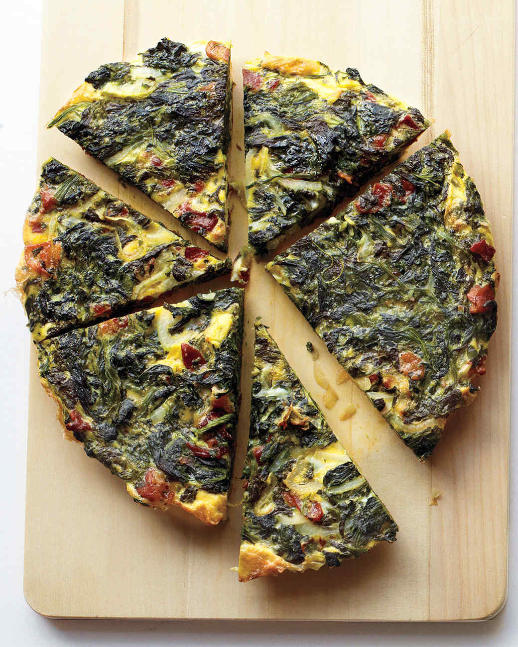 Everyday food recipes martha stewart spinach onion and bacon frittata forumfinder Image collections