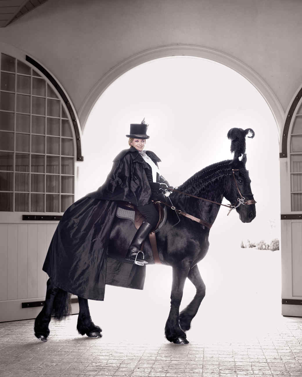 Ghostly Equestrienne Costume Martha Stewart