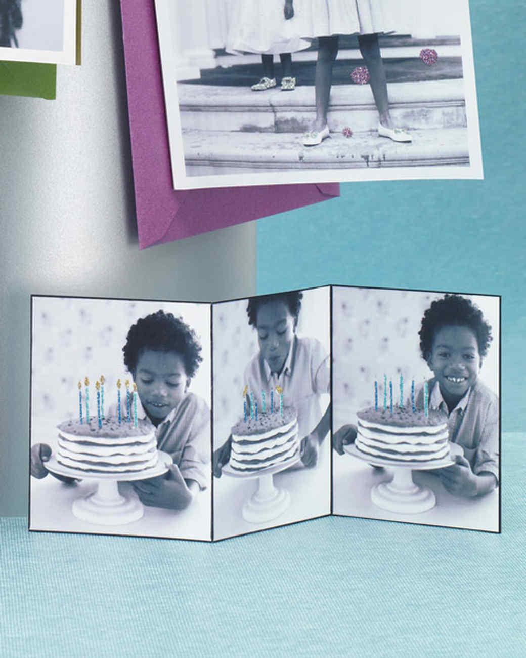 Glittered Photo Birthday Cards
