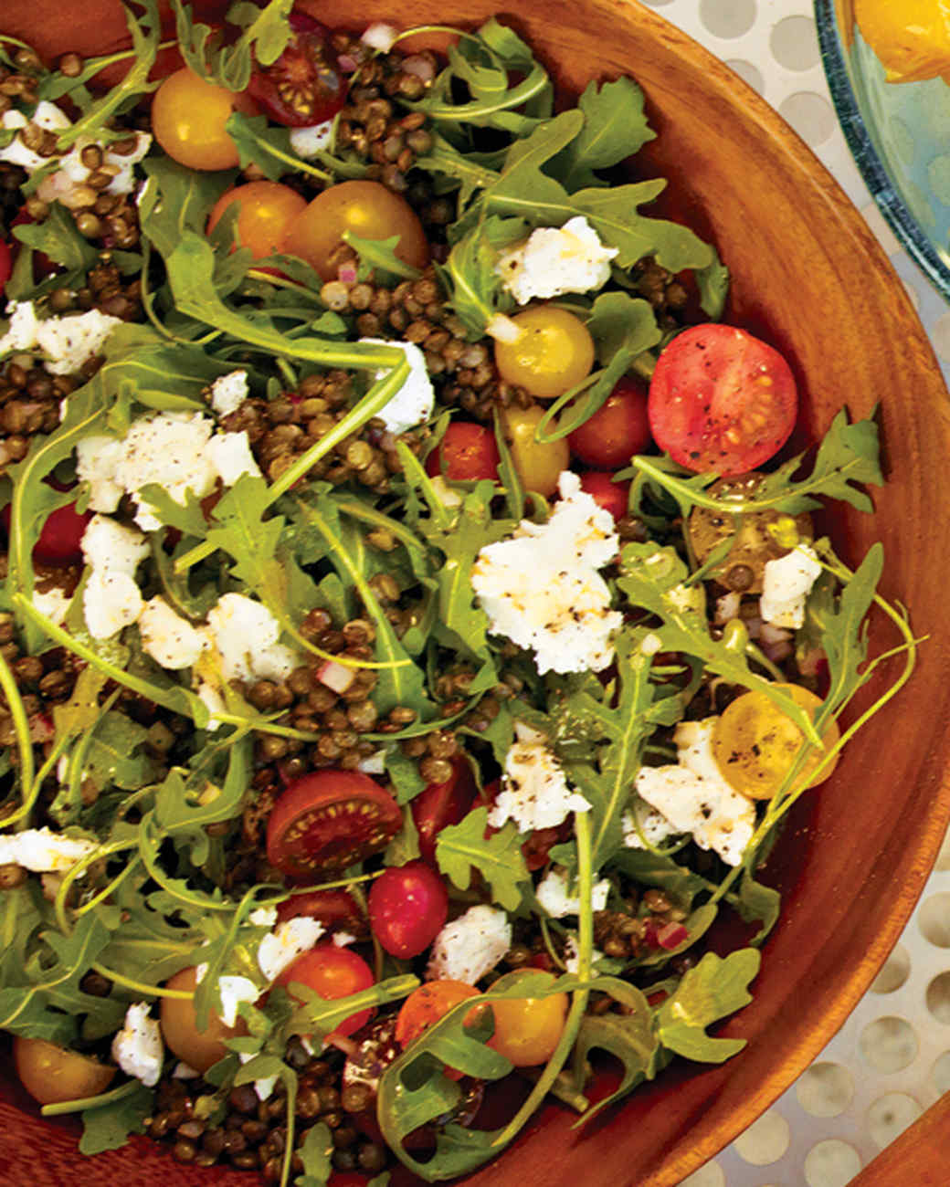 Arugula and Lentil Salad with Goat Cheese