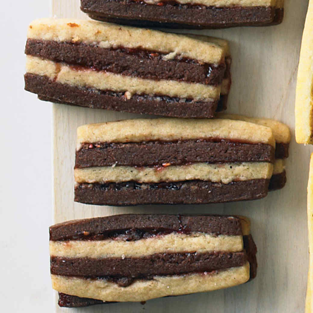 Chocolate Pecan Layered Icebox Cookies