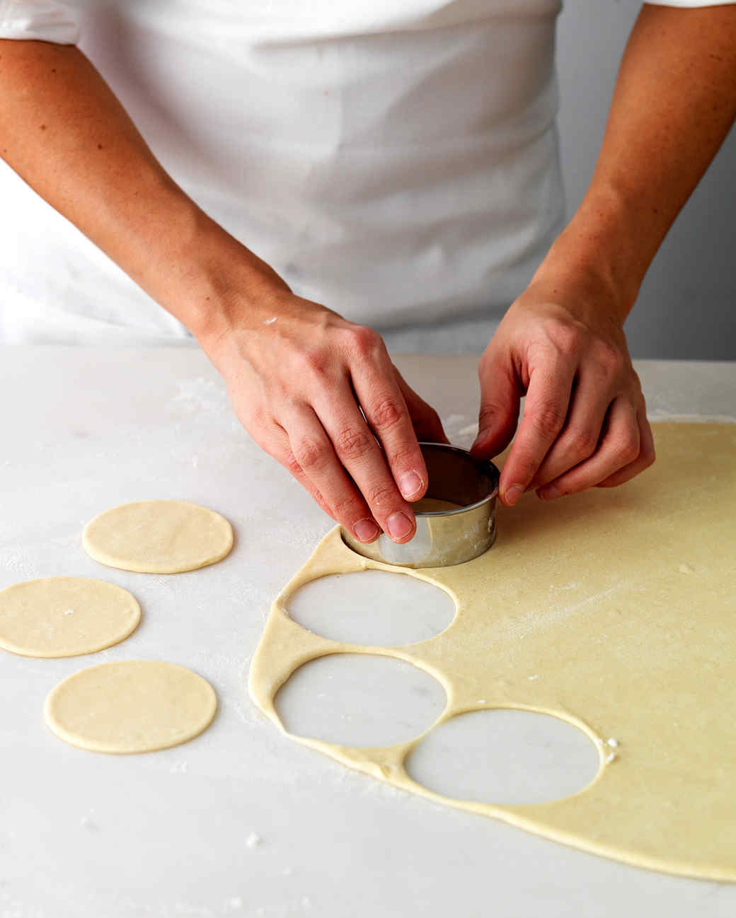 pierogis cutting out