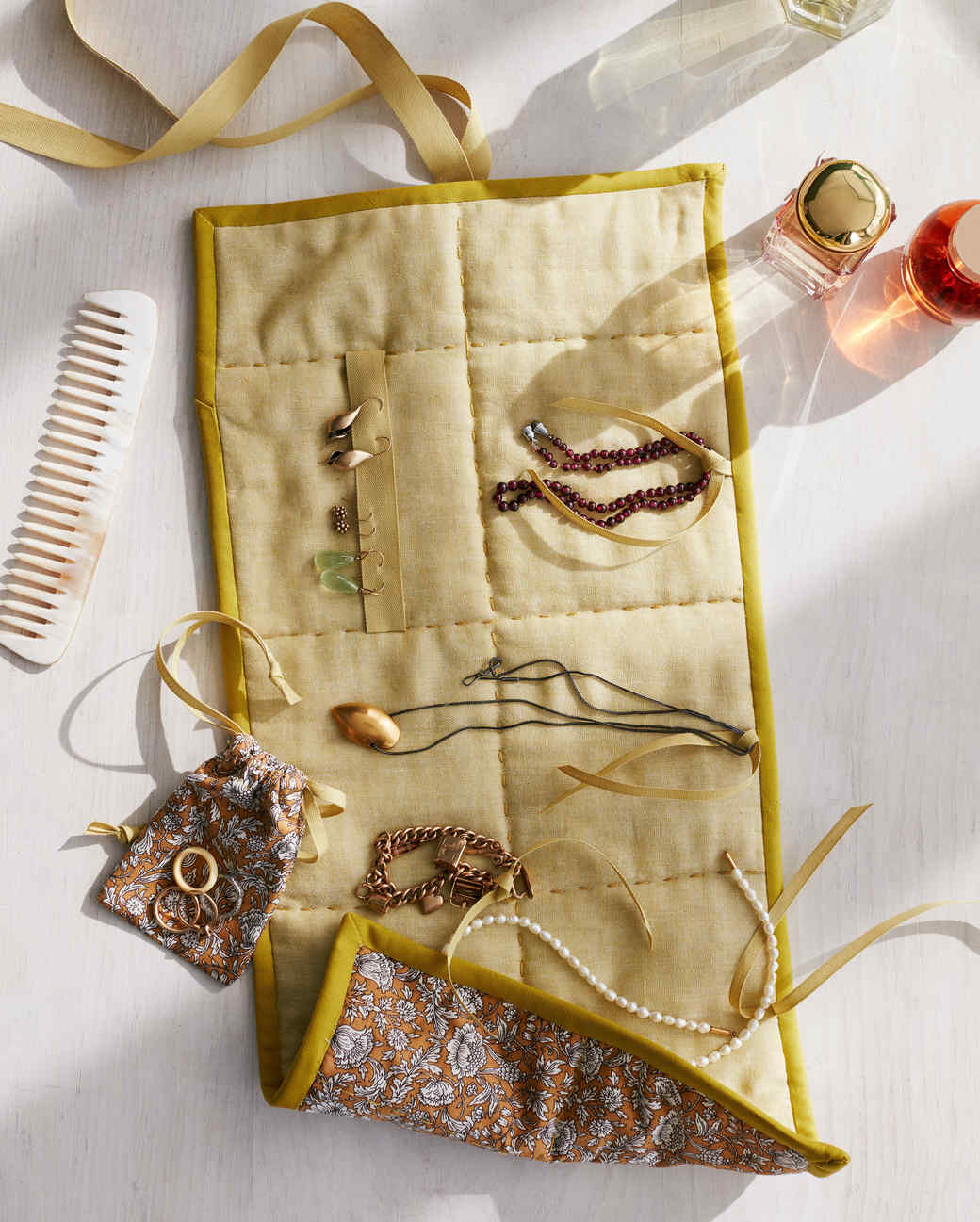 Quilted Jewelry Roll Martha Stewart