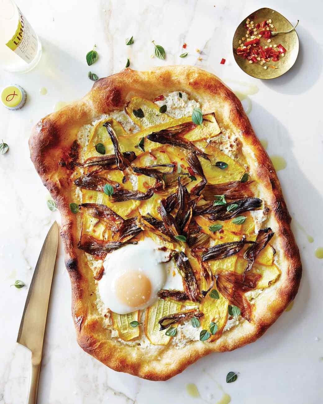 Squash-Blossom Pizzas