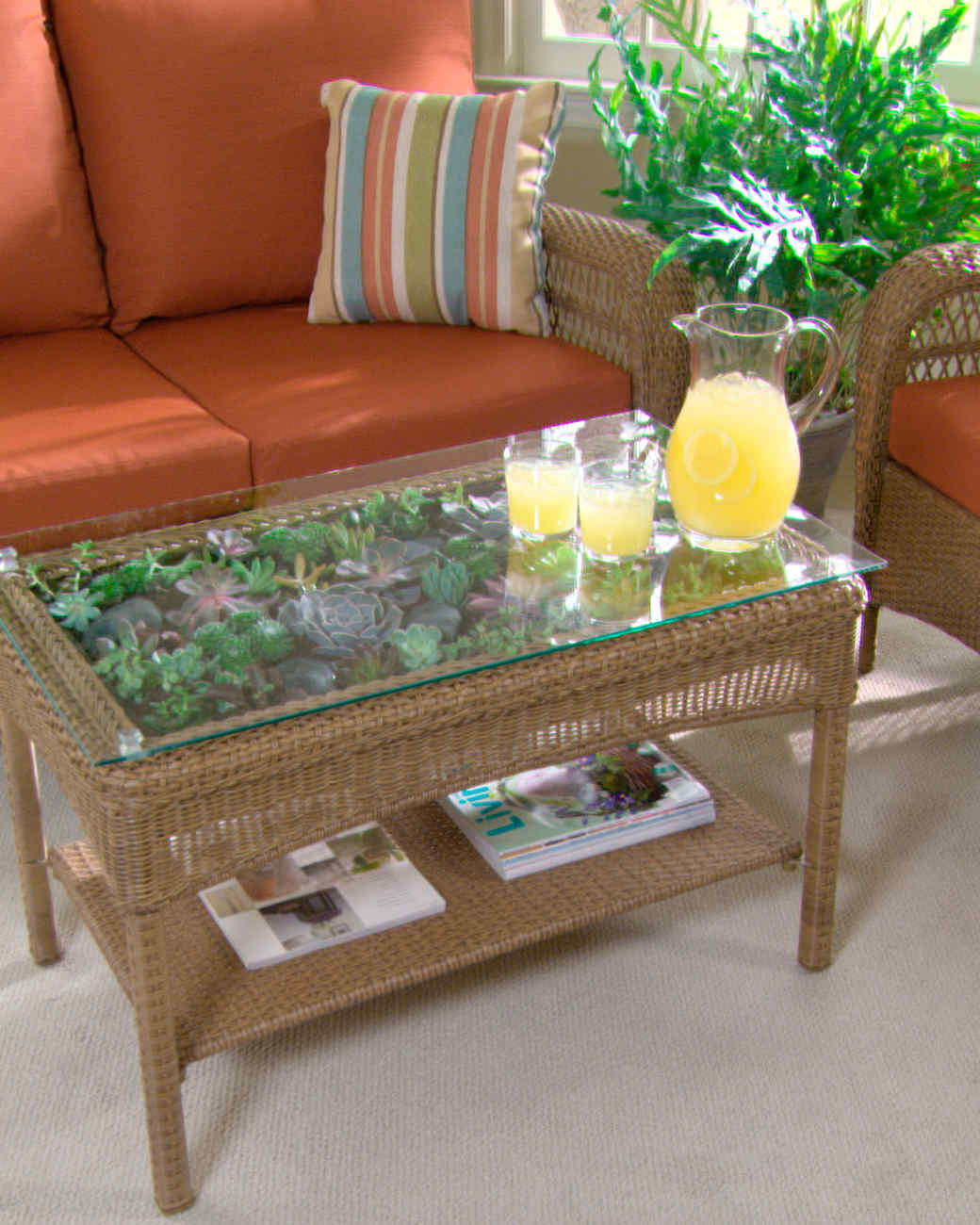 terrarium furniture. transform a table into terrarium furniture