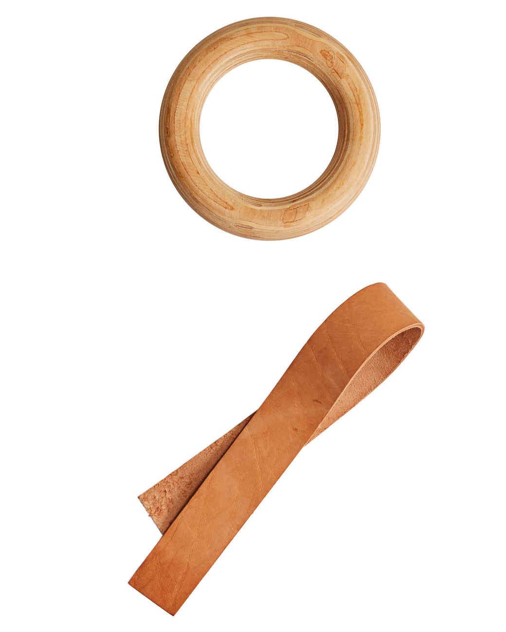 leather strip towel hanger ring
