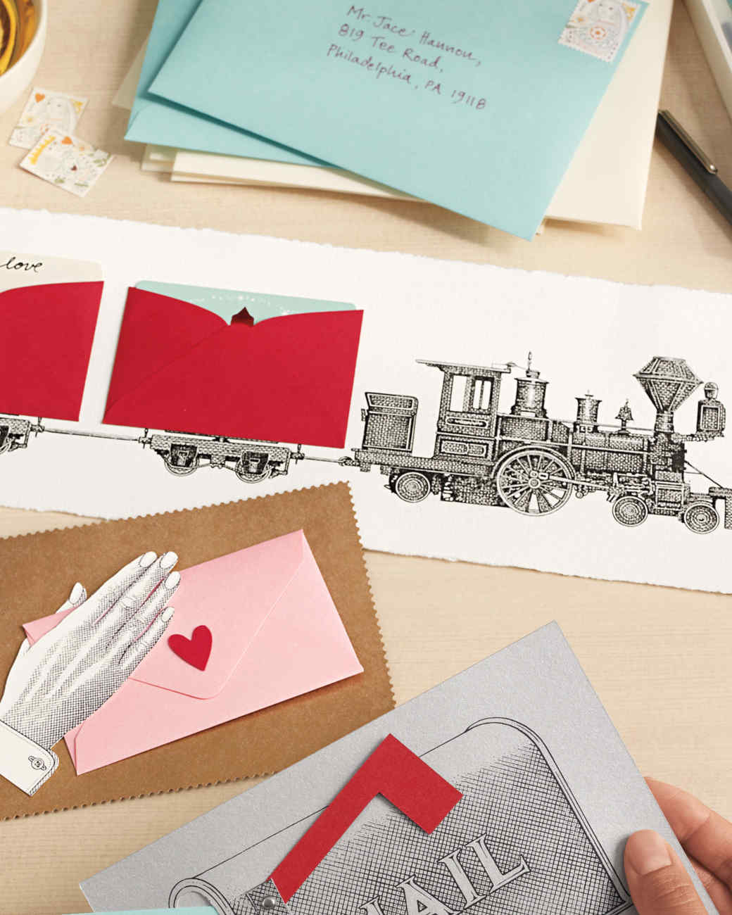 3-D Valentine's Day Illustrated Cards