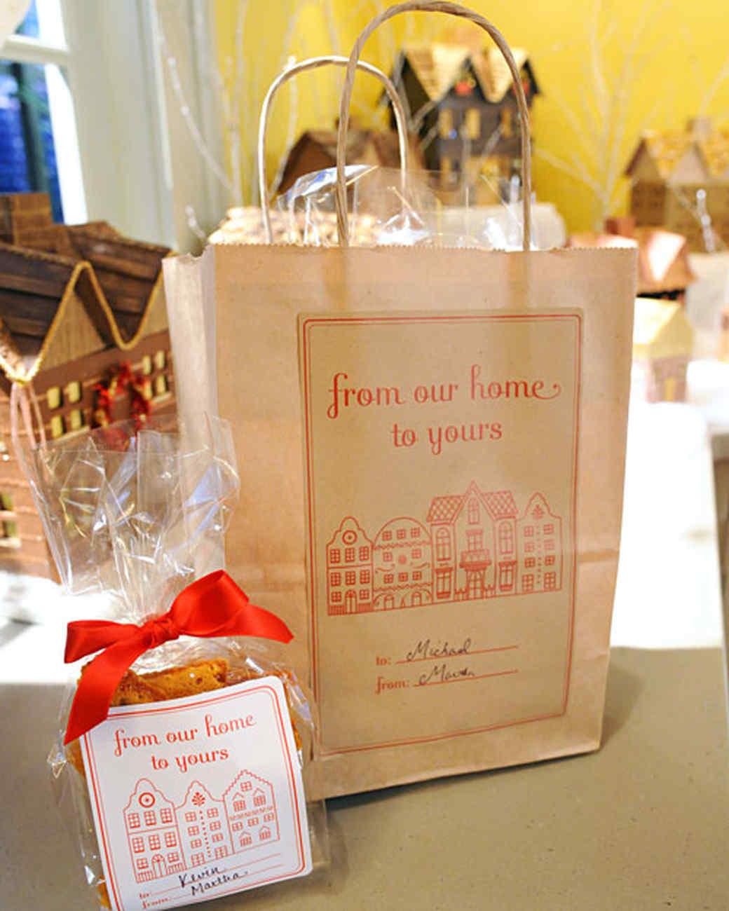 martha stewart gift tag template - gingerbread house packaging video martha stewart