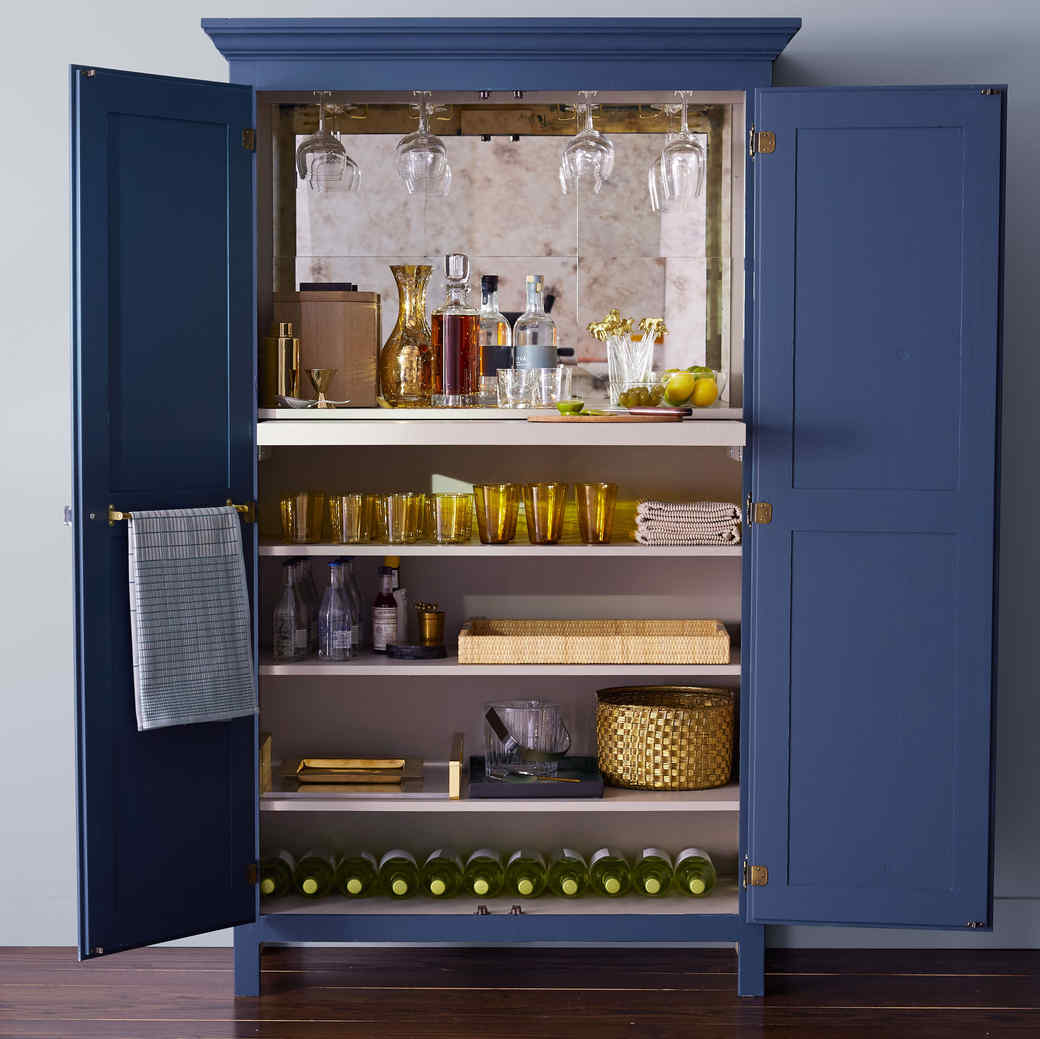 Style Tips For A Swanky Home Bar Martha Stewart