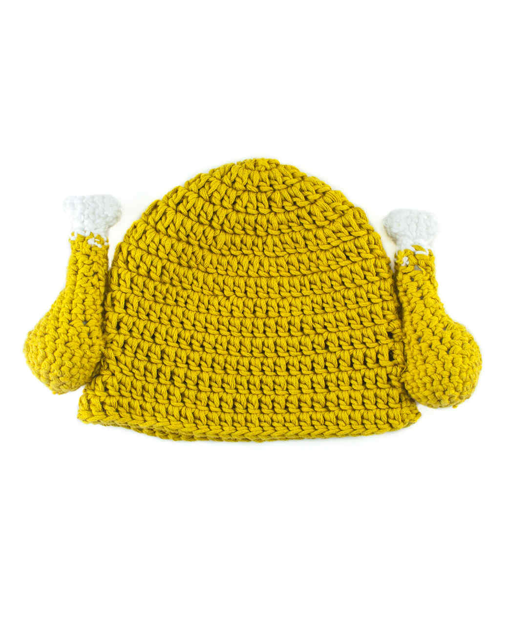 Crocheted turkey hat for Thanksgiving