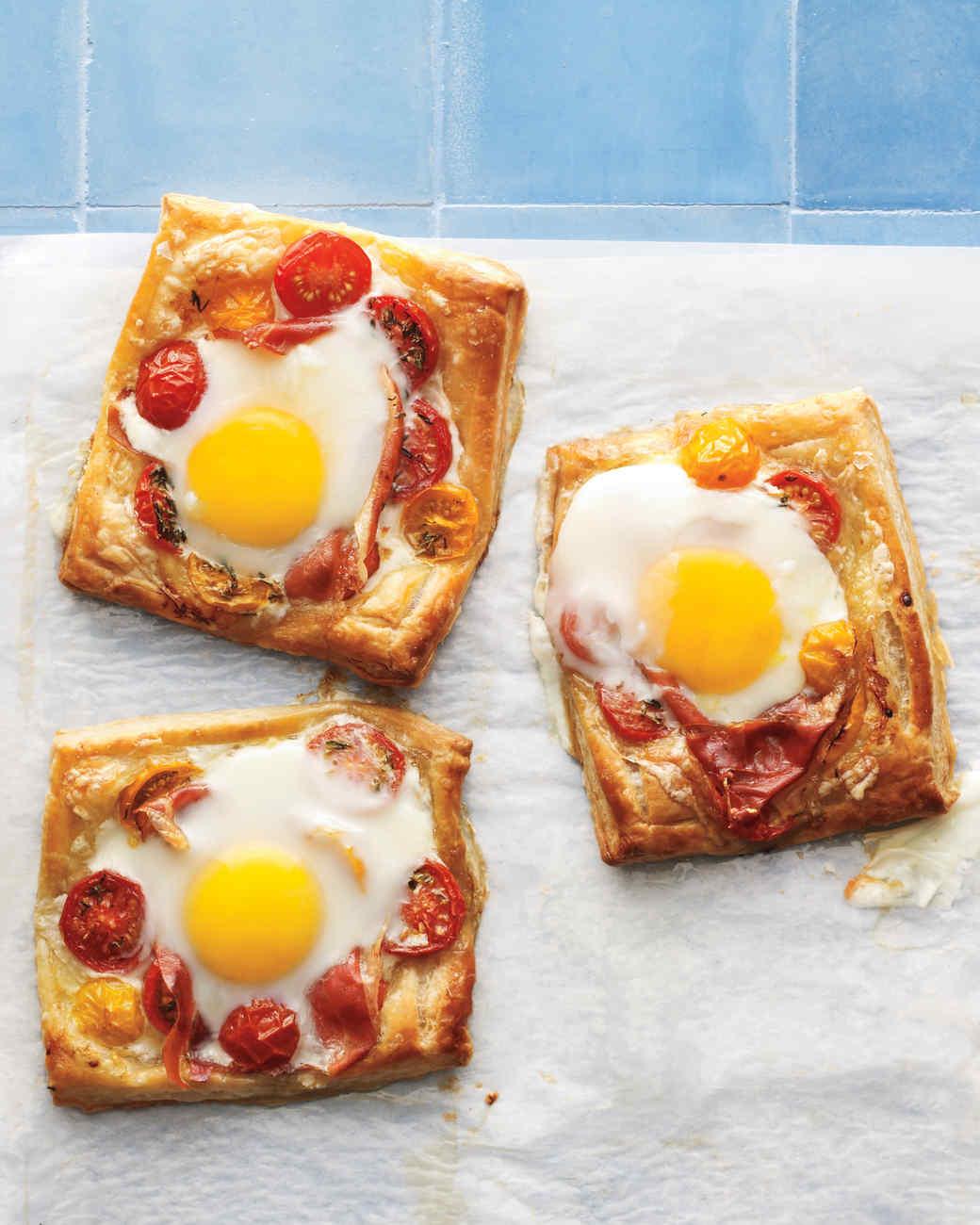 Tomato, Egg, and Prosciutto Tarts