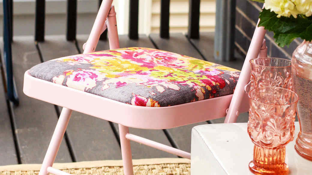 upcycled folding chair