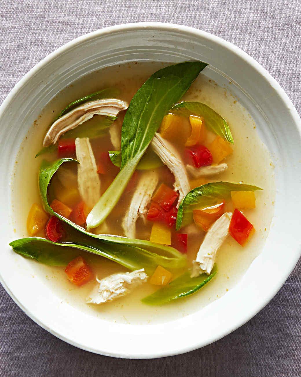 green thai chicken soup